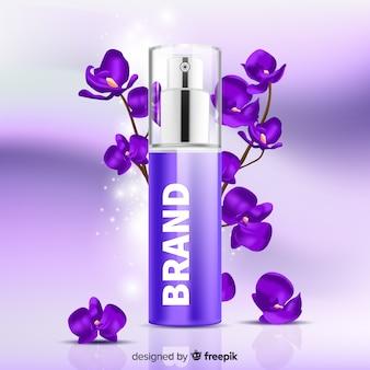 Fragrance florale sur fond flou