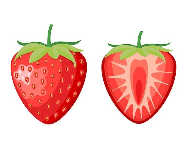 Fraise aux fruits rouges et demie