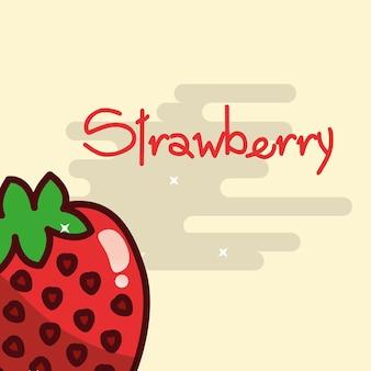Fraise fruit délicieux affiche brillante