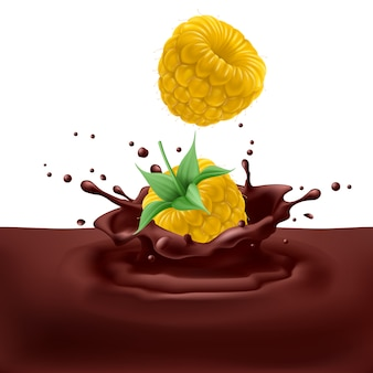 Framboises jaunes au chocolat