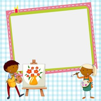 Frame design avec deux artistes