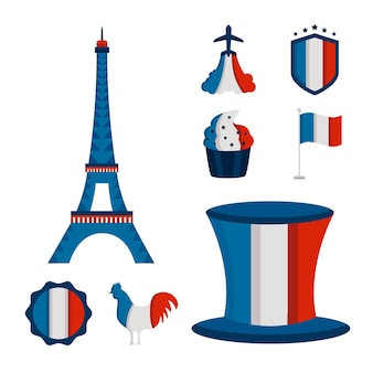 France bastille day set icons