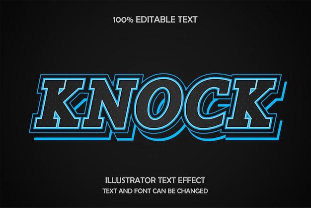 Frapper, style de texte modifiable avec effet de texte