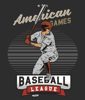 Frappeur de baseball dans le champ