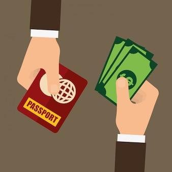 Fraude de passeport et conception de piratage