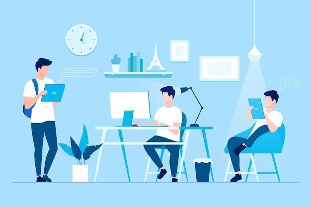 Freelance au travail maison éloignée flexible
