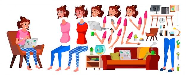 Freelancer girl worker