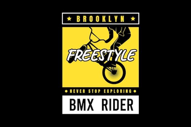 Le freestyle de brooklyn n'arrête jamais d'explorer la couleur jaune et blanc