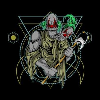Frères clowns géométrie sacrée