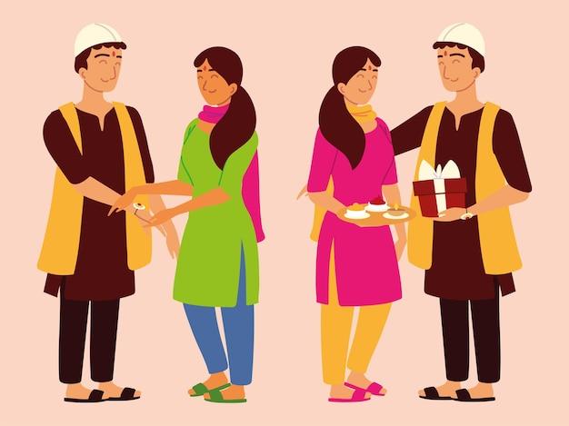 Frères et soeurs indiens