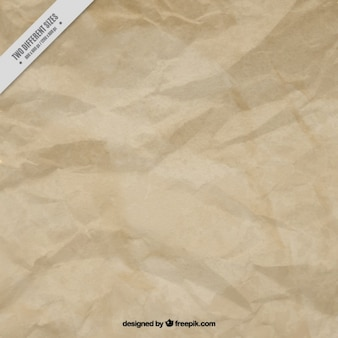 Froissé papier brun fond