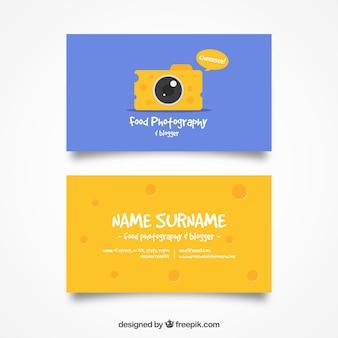 Fromage carte d'appareil photo