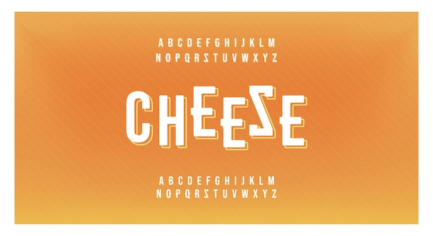 Fromage minimaliste créatif alphabet moderne