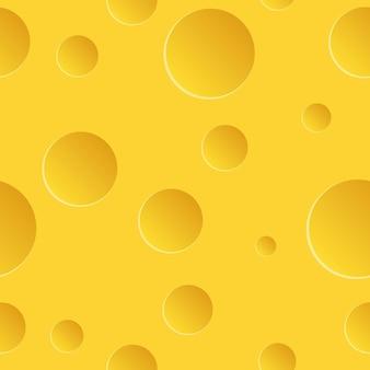 Fromage avec modèle sans couture de trous