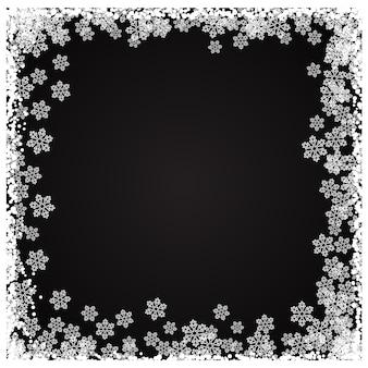 Frontière de flocon de neige