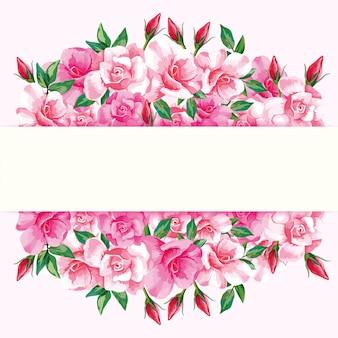 Frontière de roses