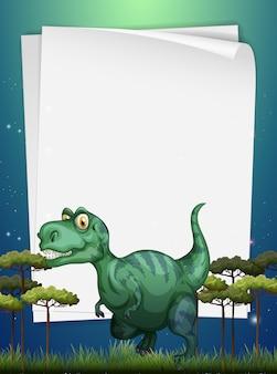 Frontière avec t-rex sur le terrain