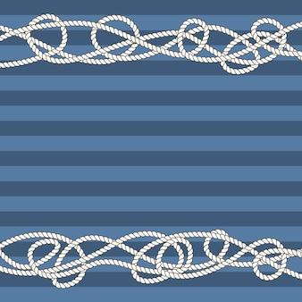 Les frontières de cordes marines emmêlées pour le texte
