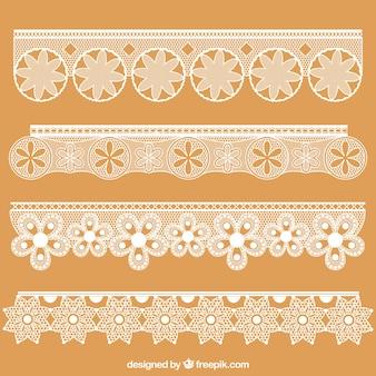 Frontières décoratives en dentelle floral