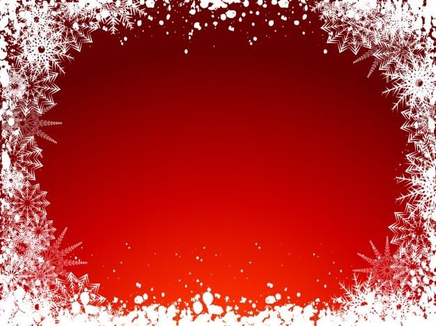 Frozen fond noël rouge