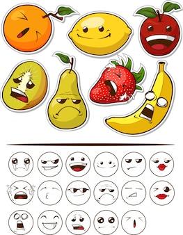 Fruit drôle avec expression
