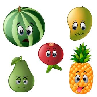 Fruit frais avec le visage