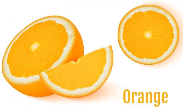 Fruit orange isolé sur fond blanc.