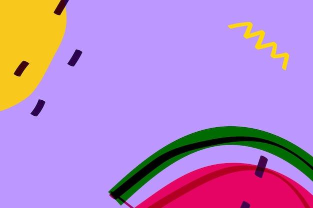 Fruit de pastèque sur une ressource de conception de fond violet