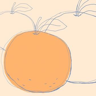 Fruit de pomme d'art de griffonnage mignon