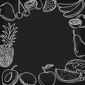 Fruits dessinés à la main