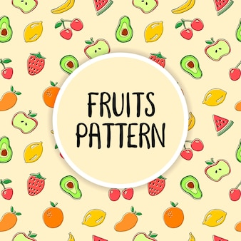 Fruits illustration vectorielle transparente