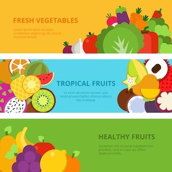 Fruits et légumes sains
