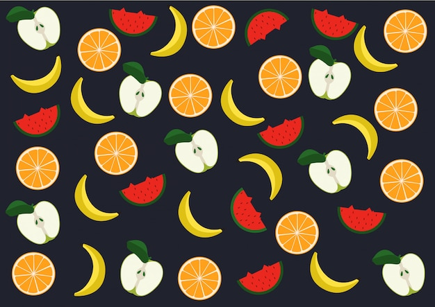 Fruits modèle vectoriel
