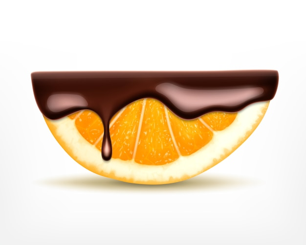 Fruits orange au chocolat