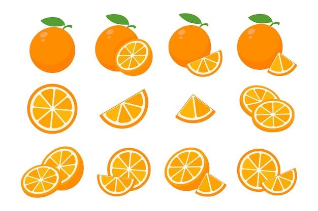Fruits oranges doux.