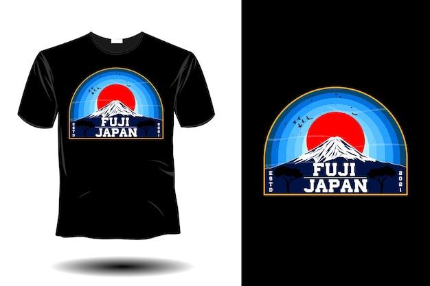 Fuji japon design vintage rétro