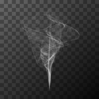 Fumée blanche transparente