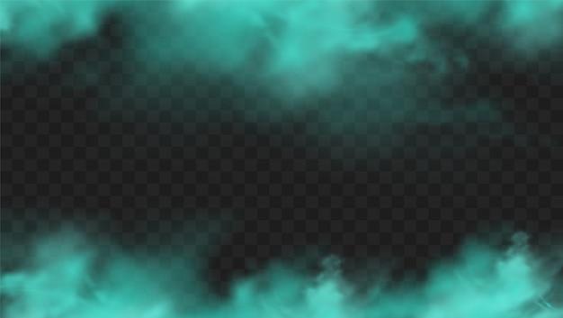 Fumée bleue isolée