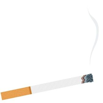 Fumée cigarette vecteur arrêter la dépendance au tabac icône illustration