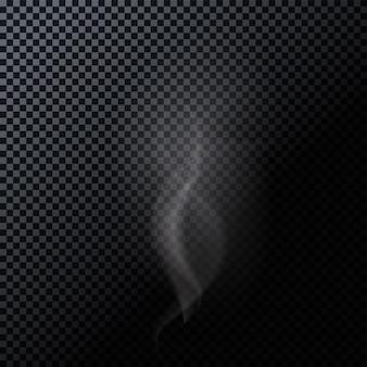 Fumée naturaliste isolée sur fond sombre. illustration vectorielle. eps10