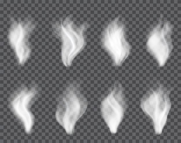 Fumée transparente sur noir