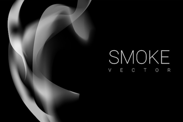 Fumer sur fond noir