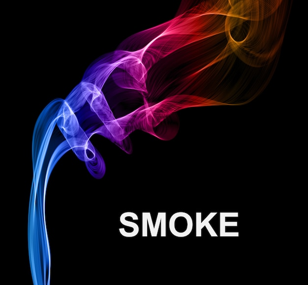 Fumer sur fond de vecteur noir.