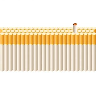 Fumer la ligne de cigarettes