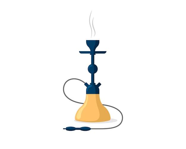 Fumer le narguilé emblème shisha bannière narguilé hubbly pipe à fumée pétillante et salon de détente café bar