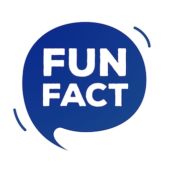 Fun fact discours bulle plat simplifier le style isolé sur fond blanc saviez-vous bannière de message