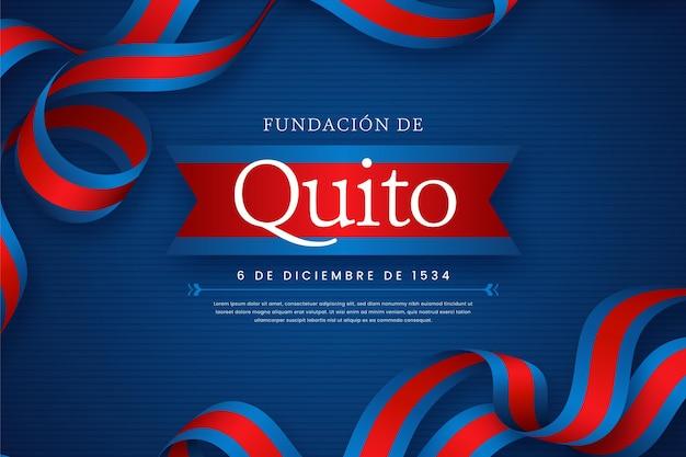 Fundación de quito avec ruban illustré