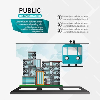 Funiculaire télécabine transport public urbain fond