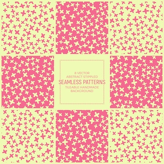 Funky stippled retro abstract patterns vector set