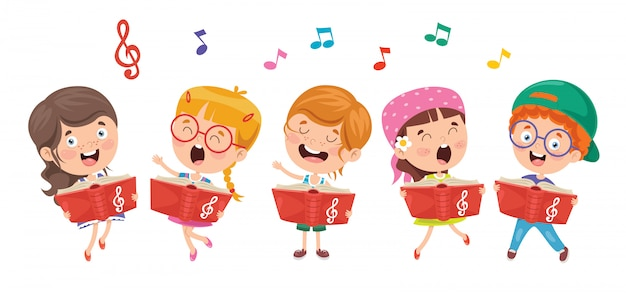 Funny little kids performing music